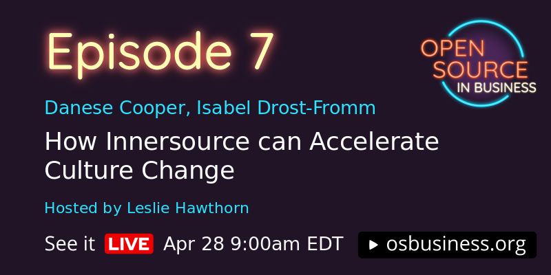 How Innersource can accelerate culture change. April 28th, 9am EDT